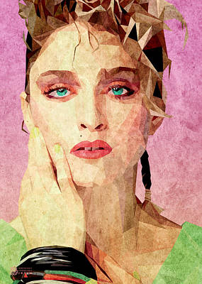 Digital Art - Madonna Low Poly by Flavio Lisi