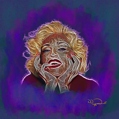Madonna Digital Art - Madonna/ Monroe Abstracto by Will Anderson