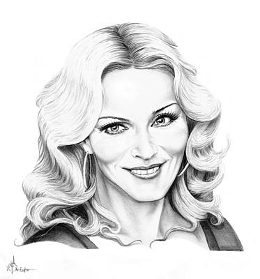 Famous People Drawing - Madonna by Murphy Elliott