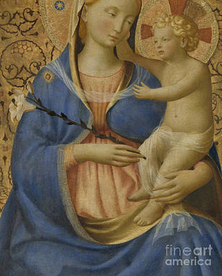 Embrace Painting - Madonna Of Humility by Fra Angelico