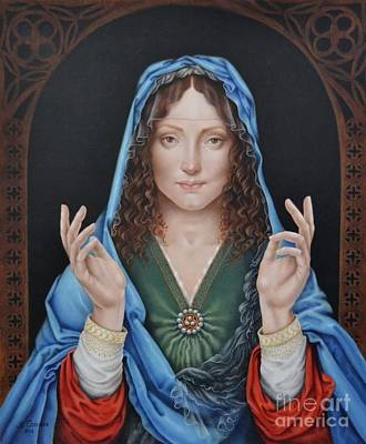 Painting - Madonna Of Peace by Nathalie Chavieve
