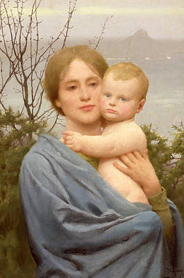 Child Jesus Painting - Madonna Of The Mount  by Thomas Cooper Gotch