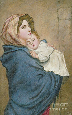 Nineteenth Century Painting - Madonna Of The Poor  by Italian School