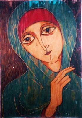 Greeting Card - Madonna by Rae Chichilnitsky