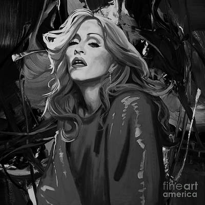 Painting - Madonna Singer by Gull G