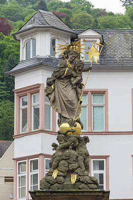 Photograph - Madonna Statue Heidelberg Germany by Teresa Mucha
