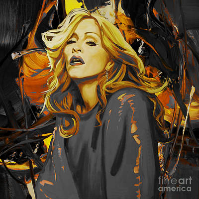 Painting - Madonna The Singer  by Gull G