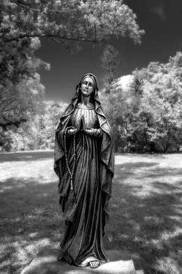 Infrared Photograph - Madonna by Tom Mc Nemar