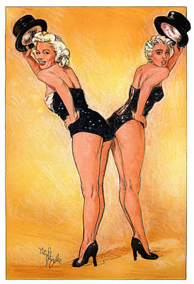 Madonna Vs. Marilyn  Art Print by Neil Feigeles