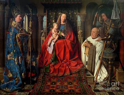 Jan.15th Photograph - Madonna With Canon Joris Van Der Paele, By Jan Van Eyck, 1434, G by Peter Barritt