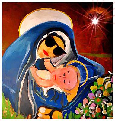 Rollingstone Painting - Premadonna With Child by Gregory McLaughlin