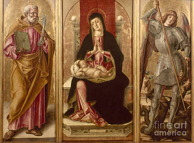 Photograph - Madonna With Saints by Granger