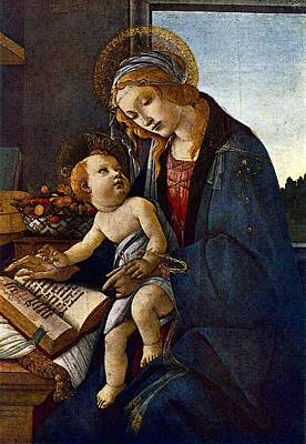 Digital Art - Madonna With The Book  by Sandro Botticelli