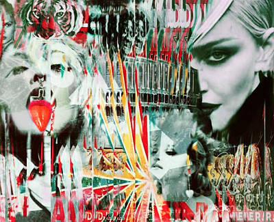 Dadaismus Painting - Madonna Zirkus Dadaismus Pop Art Pur by Felix Von Altersheim