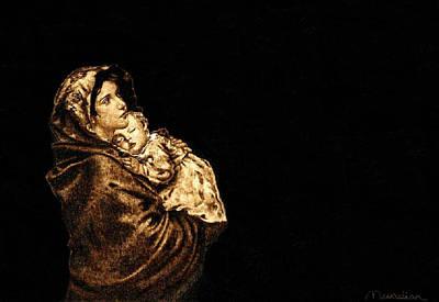 Custom Reproductions Pyrography - Madonnina by Dino Muradian