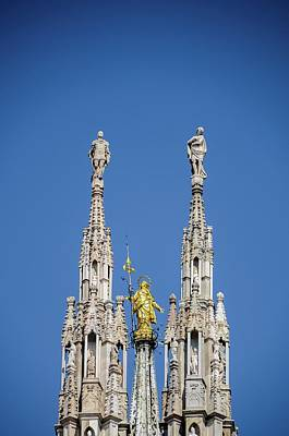 Photograph - Madonnina On Top Of Milan's Duomo Cathedral by Alexandre Rotenberg