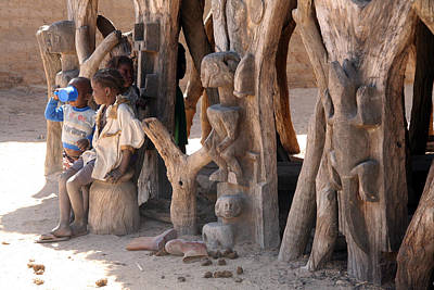 Architecture Photograph - Madougou 2008 by Huib Blom
