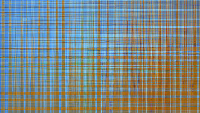 Digital Art - Madras Plaid by Gina Harrison
