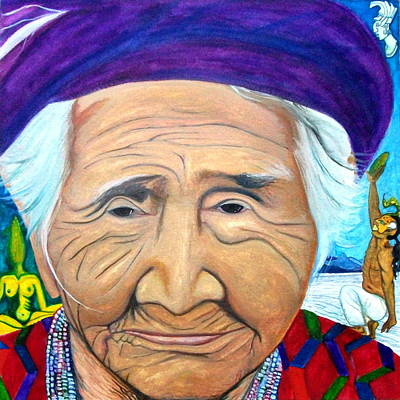 Ancient Civilization Painting - Madre Tierra by Carlita Shaw