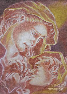 Pastel - Madre Y El Nino by Gary Renegar
