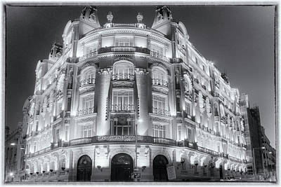 Madrid At Night Original by Joan Carroll