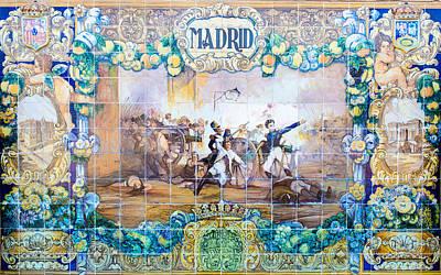 Photograph - Madrid - Azulejos by Andrea Mazzocchetti