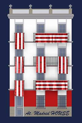 Football Digital Art - Madrid House by Alberto RuiZ