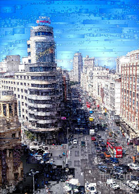 Digital Art - Madrid - La Gran Via by Rafael Salazar