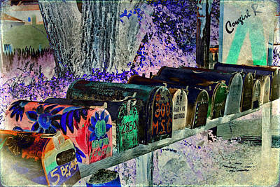Madrid Mailboxes Art Print