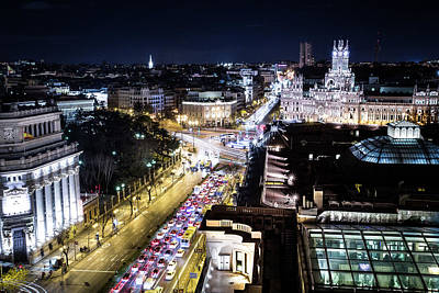 Skyline Digital Art - Madrid by Maye Loeser