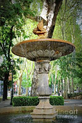 Photograph - Madrid Merboy Fountain by Carol Groenen