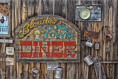 Photograph - Madrid New Mexico Signs Blondies Dsc00033 by Greg Kluempers