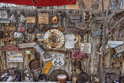 Photograph - Madrid New Mexico Signs Sit A Spell Dsc00031 by Greg Kluempers