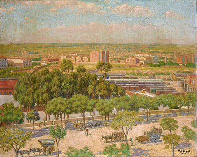 Painting - Madrid. North Station by Dario de Regoyos