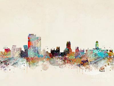 Skylines Painting - Madrid Spain by Bri B