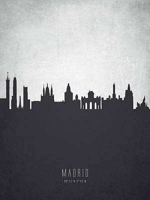 Spain Painting - Madrid Spain Cityscape 19 by Aged Pixel