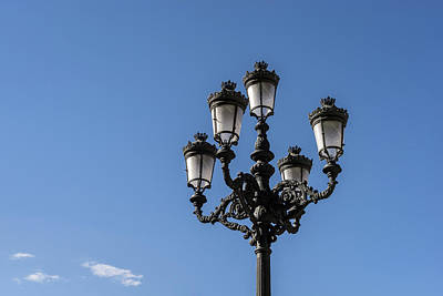 Photograph - Madrid Streetlights - by Georgia Mizuleva