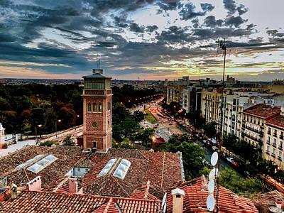 Photograph - Madrid Sunset by Nora Martinez