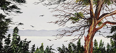 Painting - Madrona Island by James Williamson