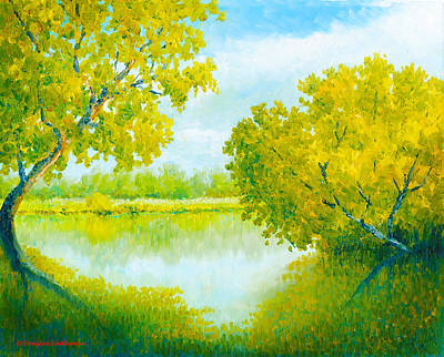 Painting - Madrona Marsh Reflections by Douglas Castleman