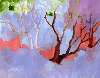 Painting - Madrona Trees At The Depot by Janel Bragg