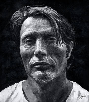 Painting - Mads Mikkelsen by Christian Klute