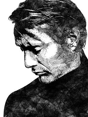 Drawing - Mads Mikkelsen by Mihaela Pater