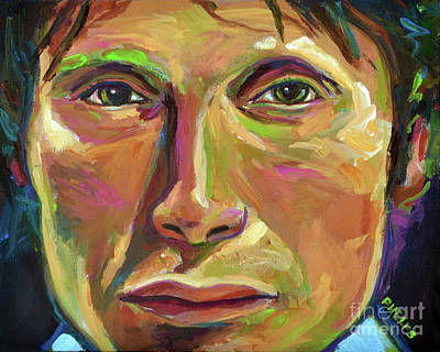 Painting - Mads Mikkelsen by Robert Phelps
