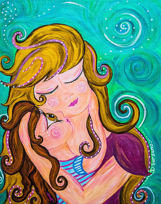 Mother Painting - Madyson With A Y by Dana Sardano