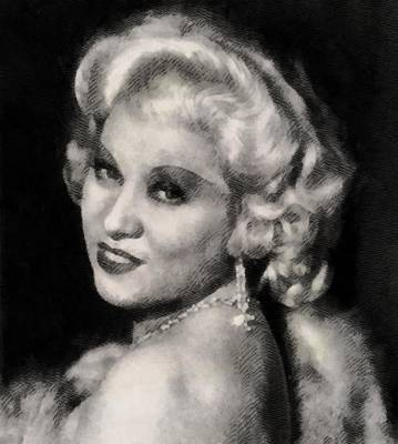 Elvis Presley Painting - Mae West, Actress by John Springfield