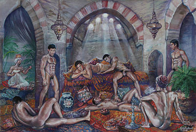 Painting - Male Haram In Old Hammam by Marc DeBauch