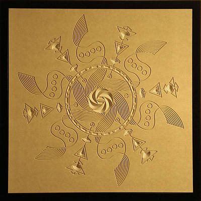 Computer Art Relief - Maelstrom Relief by DB Artist