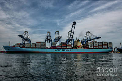 Photograph - Maersk Kure  by Dale Powell