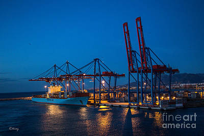 Photograph - Maersk Line Freighter  by Rene Triay Photography